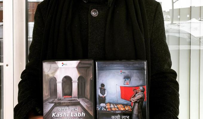 Blu-ray disks of 'Kashi Labh' at Swiss Anthropological Association (SAA)